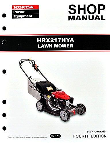 Honda Hrx217 Hya Lawn Mower Service Repair Shop Manual