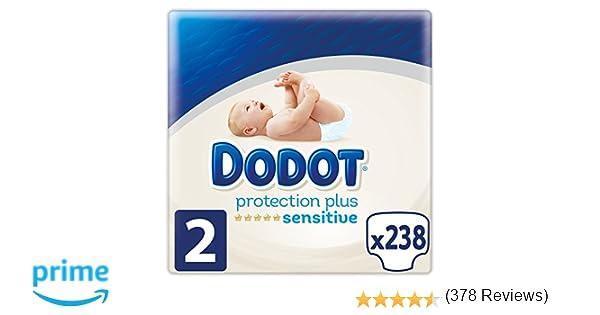 Dodot Protection Plus Sensitive - Pañales Talla 2 (4-8 kg) - 238 pañales: Amazon.es: Salud y cuidado personal