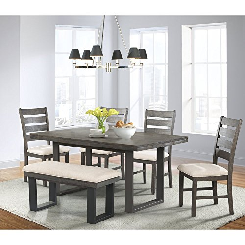 Sullivan Dining Table, 4 Side Chairs & Bench