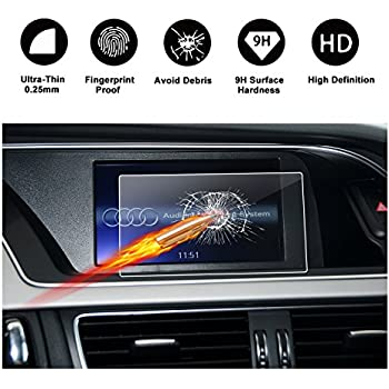 Clear Tempered Glass HD and Protect your Eyes RUIYA Audi 2017 2018 A4 S4 2018 A5 S5 Q5 SQ5 B9 Car Navigation Protective Film