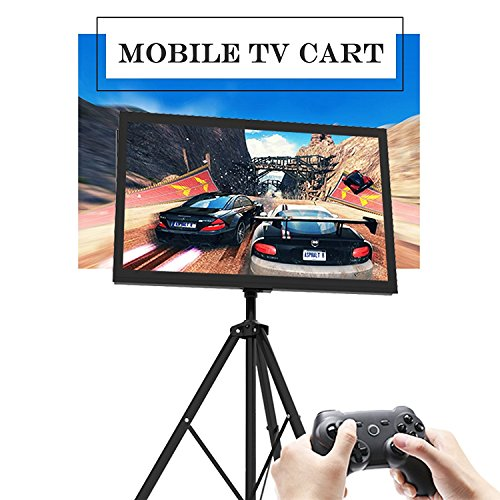Portable TV Stand Plasma LCD TV Cart Mobile with Tripod Legs for 32