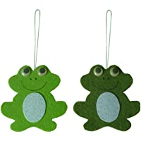 F Fityle 2pcs Easter Frog Decor Creative Present Home Hanging Crafts Kids Easter Gift