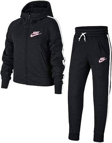 separation shoes b9eea 12c26 Nike G NSW TRK PE Chándal, Niñas, Negro (Black White Pink