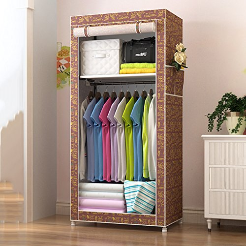 Bedroom Wardrobes Portable Clothes Closet Non Woven Fabric Wardrobe  Foldable Wardrobe DIY Folding Storage Cabinet