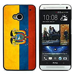 Graphic4You Vintage Ecuadorian Flag of Ecuador Design Hard Case Cover for HTC One (M7)