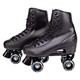 C7 Classic Roller Skates | Retro Soft Boot with Faux Leather | Speedy Quad Style for Men, Women and Kids
