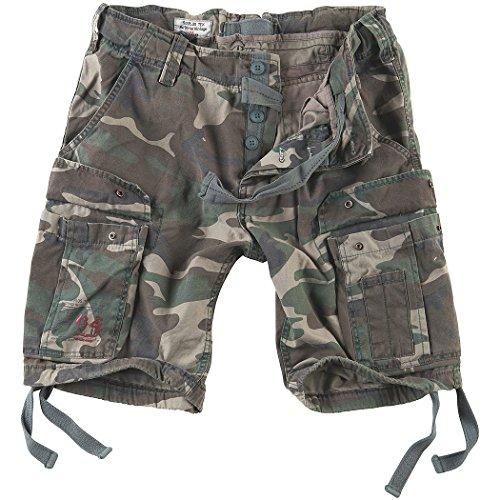 Surplus Men's Airborne Vintage Shorts Washed Woodland Size ()
