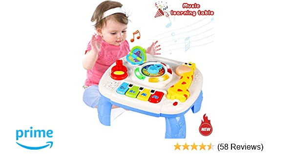 Musical Learning Table 6 Months Up Early Education Activity Center Multiple Modes Game Kids Toddler Boys And Girls Toys For 1 2 3 Years Old Best Gifts