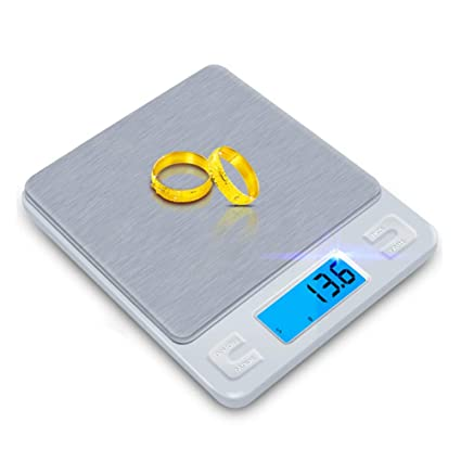 3Kg Cocina Escala Mini Bolsillo Portátil Acero Inoxidable Escala Precisión Joyería Alimentos Balanza Electrónica De Peso