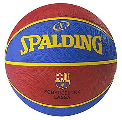 Buy Spalding Euro Barcelona Basketball Size 7 Red Blue Online At Low Prices In India Amazon In