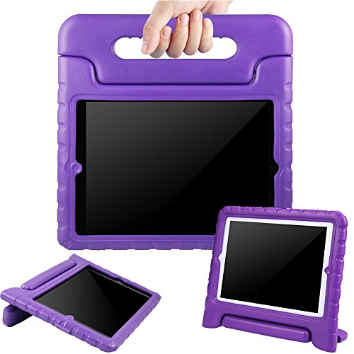 BMOUO iPad 2/3/4 Case - Kids Case ShockProof Convertible Handle Light Weight EVA Super Protective Stand Cover for Apple iPad 4, iPad 3 & iPad 2 2nd 3rd 4th Generation, Purple
