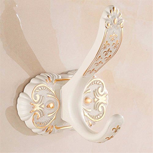 LOSTRYY European retro-baked white lacquer hook hook, (European Lacquer)