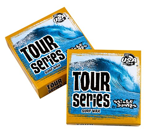 Sticky Bumps Tour Series Warm/Tropical Surf Wax (Pack of 3), White (Tropical Surf Wax)