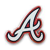 Team ProMark Atlanta Braves WHITE A Logo CE3 Raised Metal Die Cut Chrome Auto Emblem Decal Baseball