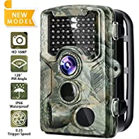 Trail Camera 16MP 1080P Game Camera with 2.4 inch LCD...