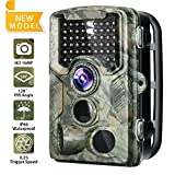 Trail Camera 120°Wide Angle Lens 16MP 1080P with IP66 Waterproof Game Camera 2.4 inch LCD Night Vision Range 65 Ft Hunting Camera 47 Infrared LEDs 0.2s-0.6s Triggering Time Wildlife Camera Review