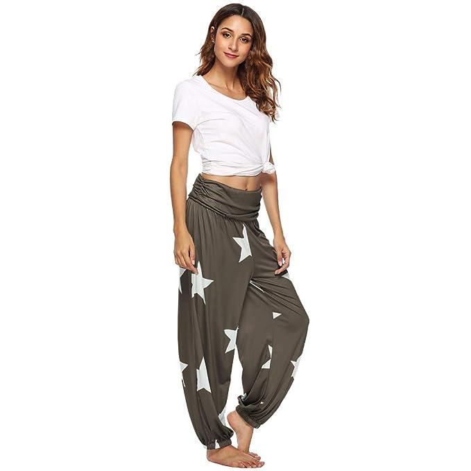 RISTHY Pantalones Anchos Mujeres Sueltos Tallas Grandes ...