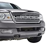 E-Autogrilles ABS Chrome Vicious Style Packaged Grille Grill for 04-08 Ford F-150