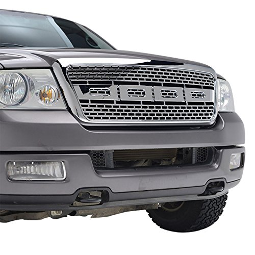 2004 F150 Grill (E-Autogrilles ABS Chrome Packaged Grille Grill for 04-08 Ford F-150)