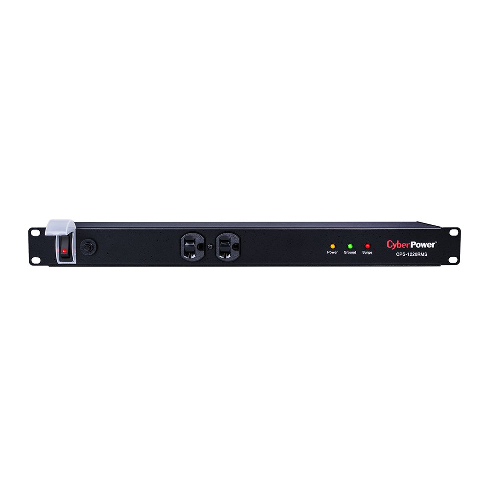 CyberPower CPS1220RMS Surge Protector, 120V/20A, 12 Outlets, 15ft Power Cord, 1U Rackmount by CyberPower