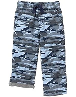 Baby & Toddler Boys Slate Camo Jersey Lined Pants