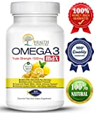 HEALTH NURTURE FISH OIL OMEGA-3 **Maximum Strength 1500mg (800 EPA/600 Dha) ** ORDER NOW AND SAVE 50% OFF! ** Pharmaceutical grade Fish Oil**