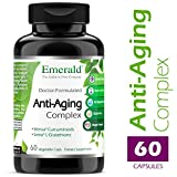 Emerald Laboratories (Rainforest) – Anti-Aging Complex – with L-Glutathione, Resveratrol, CoQ10, R-Alpha Lipoic Acid, Meriva, Pomegranate, & More – 60 Vegetable Capsules For Sale