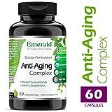 Product review for Emerald Laboratories (Rainforest) - Anti-Aging Complex - with L-Glutathione, Resveratrol, CoQ10, R-Alpha Lipoic Acid, Meriva, Pomegranate, & More - 60 Vegetable Capsules