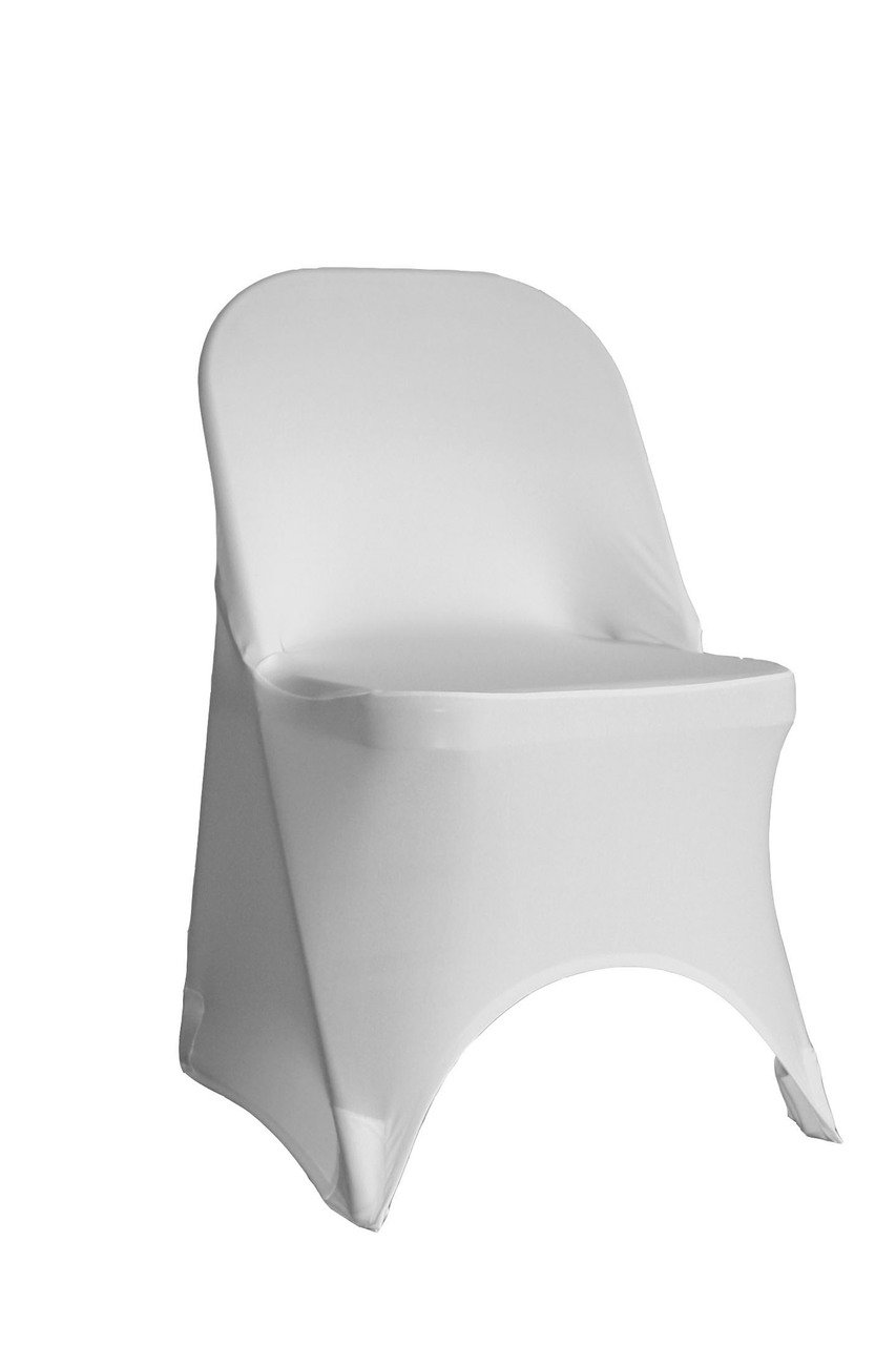 YCC Linen - 6 Pack Stretch Spandex Folding Chair Covers White