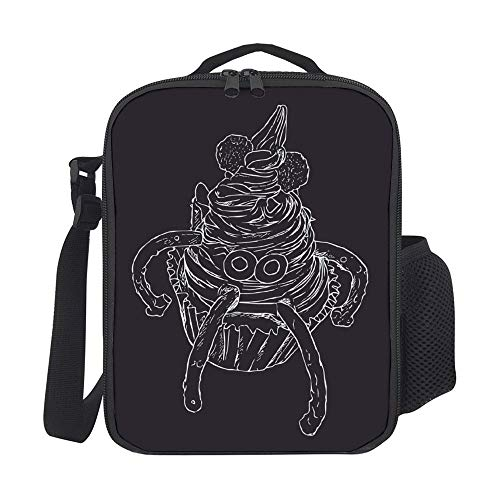 SARA NELL Kids Lunch Backpack Insulated Monster Cupcake