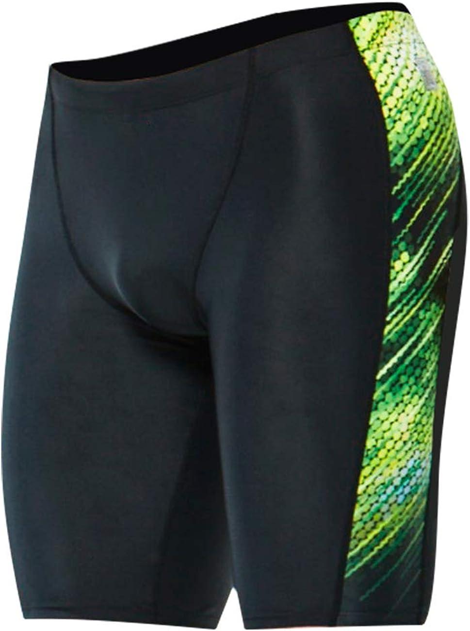 Karrack Jammer Swimsuit Mens Solid Swim Jammers Endurance Long Racing Training Swimsuit