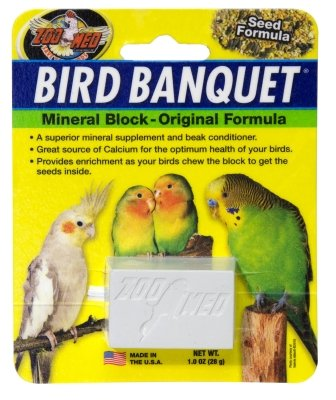 (Zoo Med Aquatrol ZM11803 Bird Banquet Block Small Mineral Block44; 6.05 lbs. )