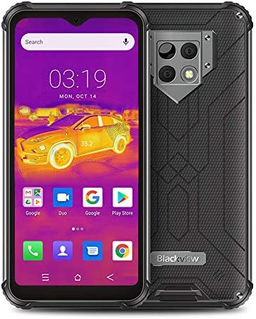 Unlocked Cell Phone Blackview BV9800 Pro, Thermal Imaging Camera Rugged Smartphone IP68 Waterproof, 48MP Triple Camera 3-Days Battery 6580mAh 6GB+128GB, 6.3'' FHD Screen Android 9 Gaming Phones WeeklyReviewer