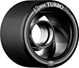 Rollerbones Turbo 94A Speed/Derby Wheels with an Aluminum Hub (Set of 8), 62mm, Black