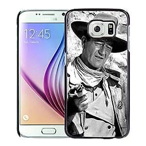 Samsung Galaxy S6 Case,100% brand new John Wayne Black Case For Samsung Galaxy S6