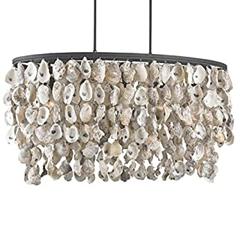 Sagg Coastal Beach Oyster Shell Wrought Iron Island Light