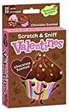 Peaceable Kingdom 28 Chocolate Cupcake Scented Scratch & Sniff Valentine Cards with Envelopes
