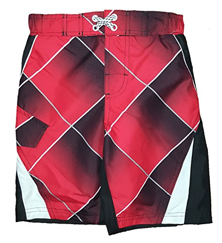 ocean-pacific-boys-red-black-splice-plaid-swim-short-large