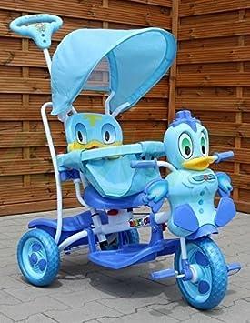 Triciclo - Mecedora infantil 2 In 1 Pato Triciclo Musical - Azul