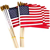 Thirty Seven Days 50-Pack 5x8 Inch Small American Flags