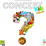 Concept Kids Animals (English Version) A deduction and party game by Repo Production |2 to 12 players | board