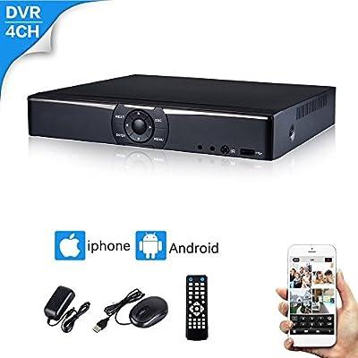 CANAVIS 1080N AHD DVR Hybrid H.264 Network 960H Full HD Motion Detection AHD HVR TVI CVI NVR 5-in-1 DVR Surveillance Security System Digital Video Recorder (4ch DVR)