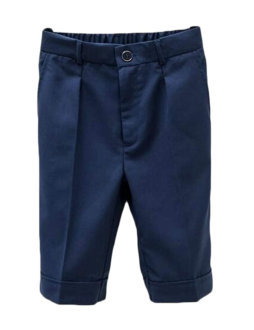 JWK Big Boy School Knee-Length Performance Basic Pure Colour Shorts