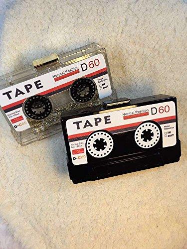 Sac BA921 transparente Zarapack Sac cassette Coque rigide à Noir main d'embrayage noir Noir ItqqPw