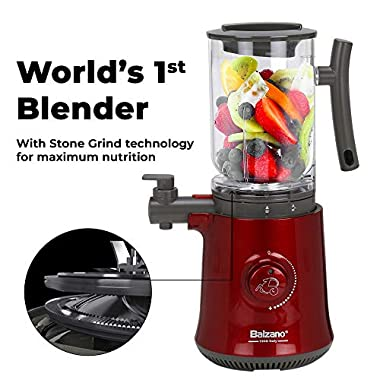 Balzano Yoga Blender/Smoothie Maker/Juicer/Soup Maker with Auto Seed Separation and Immunity Booster - Metallic Red 12