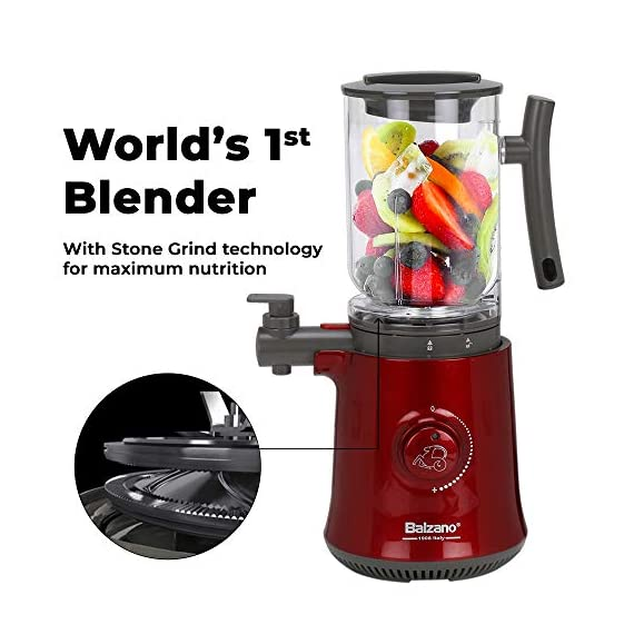 Balzano Yoga Blender/Smoothie Maker/Juicer/Soup Maker with Auto Seed Separation and Immunity Booster - Metallic Red 4