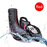 Bike Shoe Covers, Outdoor Sports cycling Shoe Covers Waterproof Warmer Overshoes Shoe Cover for Men Women MTB Winter Rain cycle Bicycle Mountain Road Toe Cover (Red, Standard Size)