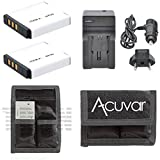 2 NP-50 Li-ion Batteries Replacement + Car / Home Charger + Acuvar Battery Pouch for Fujifilm EXR F550, F600, F605, F660, F665, F750, F770, F775, F800, F850, F900 REAL 3D W3 and Other Models