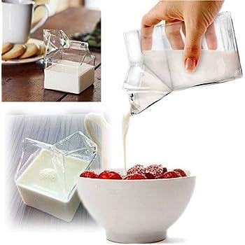 Gadgets The Mini Half Pint Creamer Coffee Drinking Milk Carton Glass Cup Tumblerful