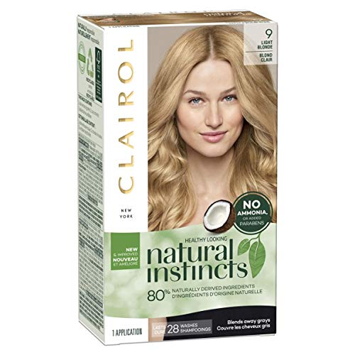 Clairol Natural Instincts NonPermanent Color 09 Light Blonde  pack of 3